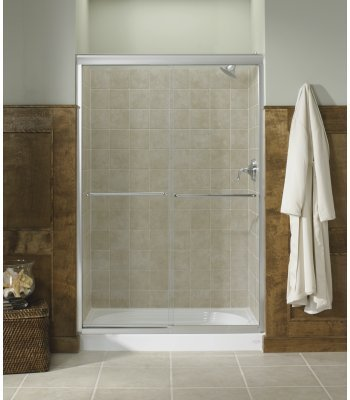 KOHLER K-702208-L-SHP Fluence Frameless Bypass Shower Door, Bright Polished Silver (Kohler Glass Shower Door compare prices)