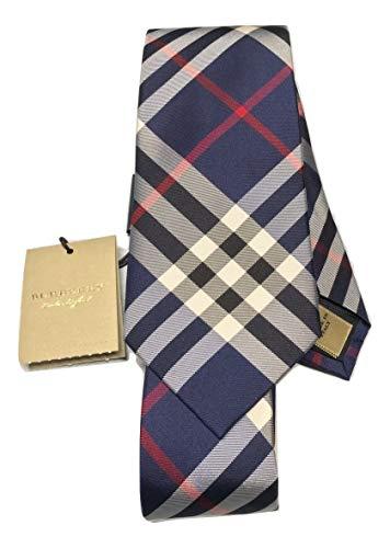 - New Authentic Burberry London Manston Navy Skinny Silk Tie