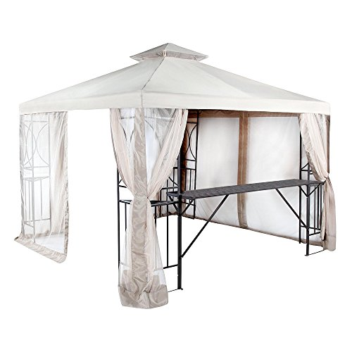 Garden Winds Replacement Canopy Top Cover for the 10x10 Crescent Gazebo - RipLock 350 by Garden Winds