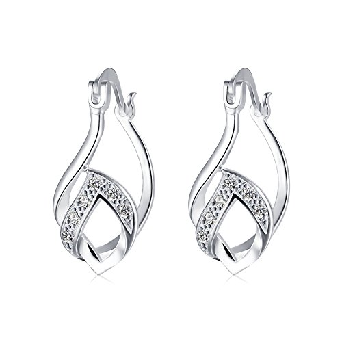[Earrings for Girls Valentine's Day Jewelry Love Sterling 925 Silver Drop Shaped Earring for Women] (Easy Starfish Costume)