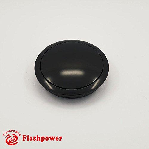 Aluminum Horn Button for 9-bolt Steering Wheels (Small Black)