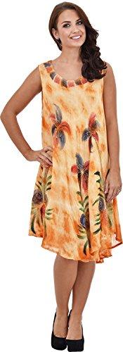 Nightingale Collection - Vestido - Sin mangas - para mujer naranja