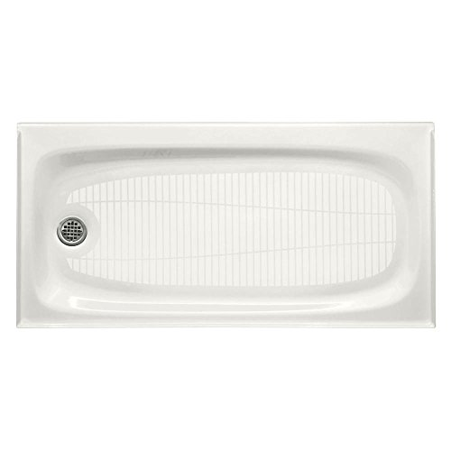 KOHLER K-9053-0 Salient Receptor with Left-Hand Drain, 60-Inch by 30-Inch, White