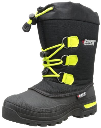Baffin Igloo Snow Boot (Little Kid),Black/Fluorescent Gre...