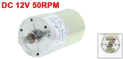 13.14Kg.cm 6 mm arbre permanent engrenage magnétique Boîte moteur 50rpm DC 12V by eDealMax (Image #1)