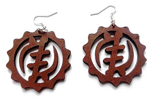 Gye Nyame Ring (Adinkra Gye Nyame Earrings (Brown))