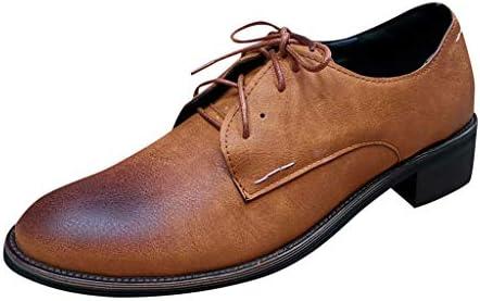 [해외]Suoxo Men Shoes Mens Leather Flat Boots Casual Lace-Up Round Toe Low-Heeled Ankle Boots (US:8.5 Brown) / Suoxo Men Shoes Mens Leather Flat Boots Casual Lace-Up Round Toe Low-Heeled Ankle Boots (US:8.5, Brown)