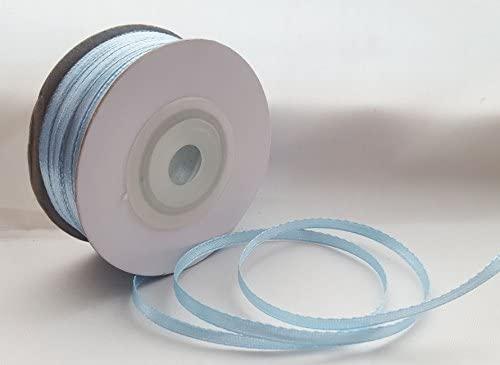 25/mm Anchos, 10/mm 3/mm x 50/m Ribboncraft /Único Rollo de Color Azul Doble Cara Cinta de Raso 3/mm 16/mm