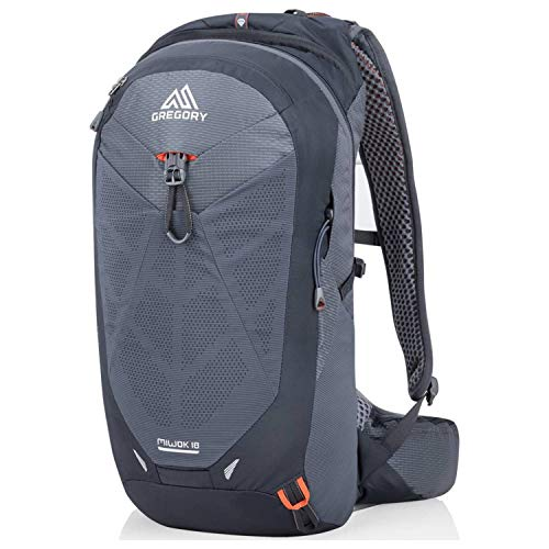 Gregory Mountain Products Miwok 18 Liter Men's Daypack, Flame Black, One Size