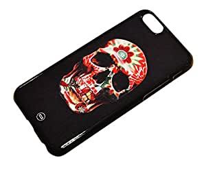 1888998243413 [Global Case] Garden Bones Flower Pattern Flowery Floral Flowers Roses Dead Mystic Dark Black Colorful Trendy Blooming Skull (BLACK CASE) Snap-on Cover Shell for Huawei G700 ASCEND