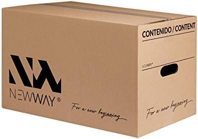 Pack 20 cajas de cartón para mudanza y almacenaje con asas fabricadas en España con cartón ecológico altamente resistente una capa (CALIDAD BASIC) (Talla L-(500x300x300mm)): Amazon.es: Oficina y papelería