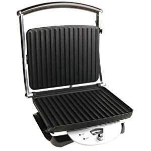 De'Longhi us-jap-hu-nii-ma2082 CGH800 Contact Grill and Panini Press, 14.8 Inch, Grey & Black