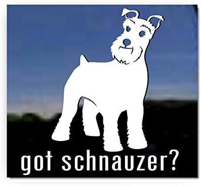 I Love My Schnauzer Dog Rescue Adopt Car Window Decal Sticker Pet Animal