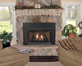 Amazon.com: Vent-Free Thermostat 28000 BTU Fireplace Insert ...