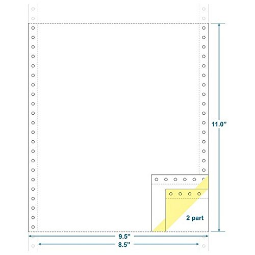 2-Ply Carbonless Paper, White/Canary, Form Size 9-1/2 x 11 (W x H) (Carton of 1800) KDM
