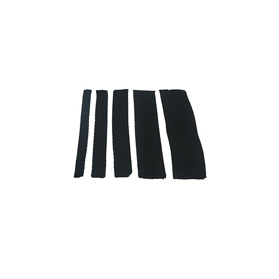 Bluemoona Polypropylene Webbing Belt Strap Buckle Strapping Black
