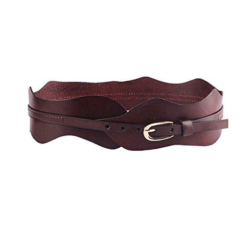 [Vintage 100% Cowhide Leather Girdle Wide Waist Belts Retro Trimmer Cinch Belt for Women] (Leather Cinch Belt)