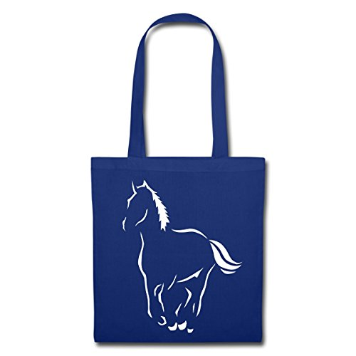 Spreadshirt Spreadshirt Horseback Horse Royal Riding Hobby Tote Bag Horse Blue nUPxFUH