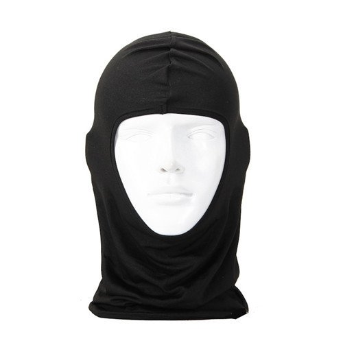ULTRA THIN Lycra SKI BIKE Bicycle FACE MASK Sports FOOTBALL HELMET - BALACLAVA(Black)