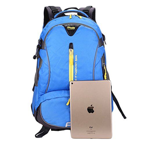 DaBag-Business Rucksack Wasserdicht Schultasche Computer Tasche Travel Herren Großräumige Tasche Rucksack (Grün) Blau qCeOADL
