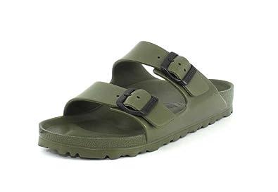 d9cc5276c Birkenstock Arizona Khaki Rubber Two Strap Sandal: Amazon.co.uk ...