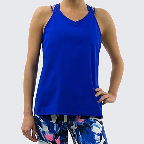 New Balance Women's Impact Woven Tank, UV Blue, Medium