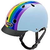 Nutcase - Patterned Street Bike Helmet for Adults, Rainbow Sky, Medium