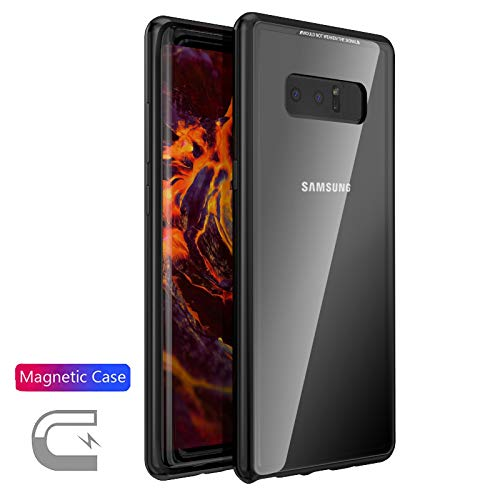 Magnetic Absorption Galaxy Note 8 Case Metal Frame+Transpare