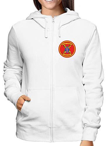 Marine Damen Regiment Hoodie Battalion Tm0325 Usmc 11th 2nd Weiss Sweatshirt Zip Usa HpwCnd8qH