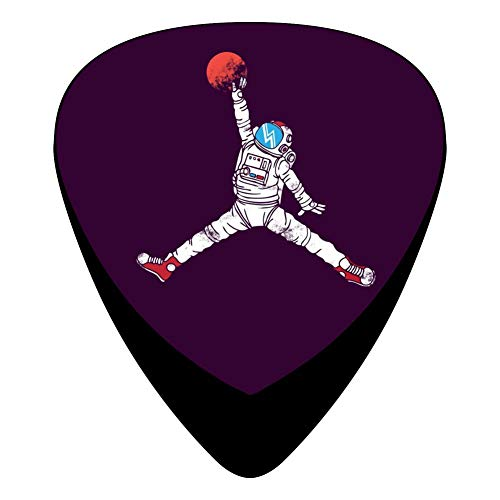 Celluloid Guitar Picks Holders Plectrum For Electric Guitar,Best Gift For Guitarist,Print Space Dunk Purple Ver,12 Pack