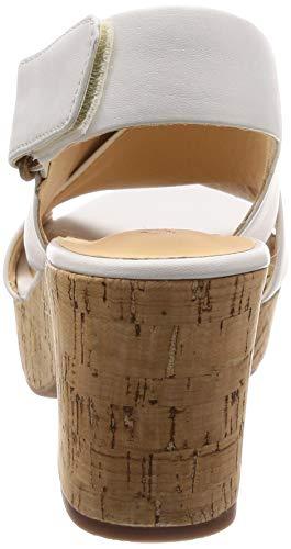Clarks Blanc Cheville Bride Sandales Leather Femme Lara Maritsa white rqUPYwr