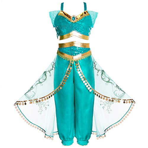 Joy Join Princess Jasmine Costume Outfit for Girls 4t 5t -