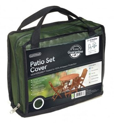 2-4 Seater Round Patio Set Cover - Green Gardman