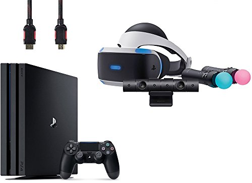 PlayStation VR Start Bundle 4 Items:VR Headset,Move Controller,PlayStation Camera Motion Sensor,Sony PS4 Slim 1TB Console – Jet Black