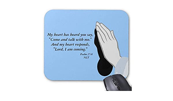 Amazon com : BGLKCS Psalm 27:8 Mousepad Mouse Pad : Office