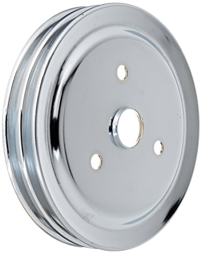 Racing Power Company R9603 Chrome SWP Double Groove Crank Pulley for Small Block ()