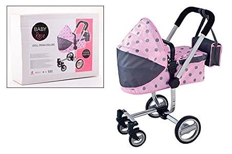 johntoy kinder puppenwagen mit wickeltasche in rosa mit. Black Bedroom Furniture Sets. Home Design Ideas