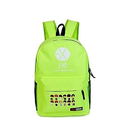 Amazon.com: EXO Kpop Backpack Schoolbag canvas book bag ...