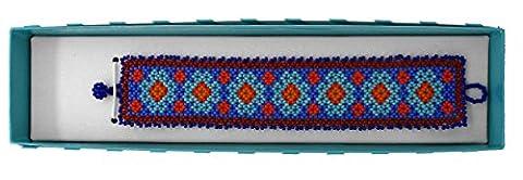 Bracelets Beadwork Jewelry Handmade by Huichol Indians - Colorful 6