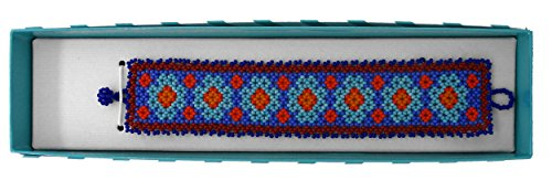 Traditional Womens Bracelets (Bracelets Beadwork Jewelry Handmade by Huichol Indians - Colorful 6