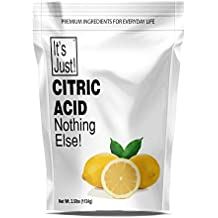 It's Just - Citric Acid (Food Grade) Non-GMO, Make Your Own, Bath Bombs, Sour Drinks, Household Cleaning (40oz)