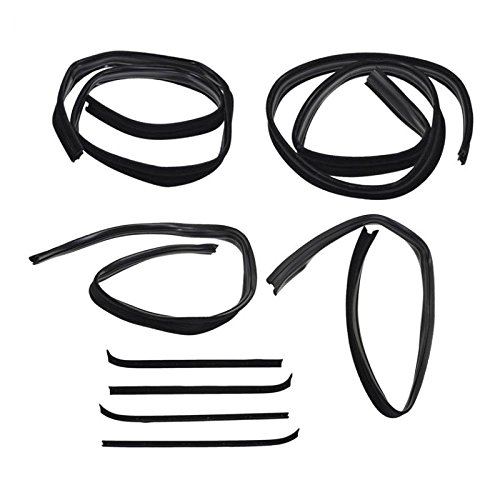 (Window Sweep/Run Channel Weatherstrip Seal Set for Ford Bronco Pickup Truck F150)
