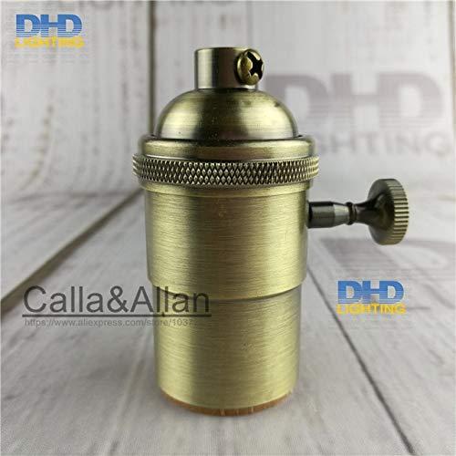 Kamas 100pcs/lot 5colors Retro Vintage Edison E27 Screw Bulb copper Base Lamp Holder Pendant and Ceiling Lighting brass light Socket - (Color: LH6504)