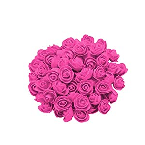 Amaping 100PCS Foam Rose Flower Gifts for Wedding Birthday Valentine Rose Heads Proposal Gifts Boxes Inserts 11