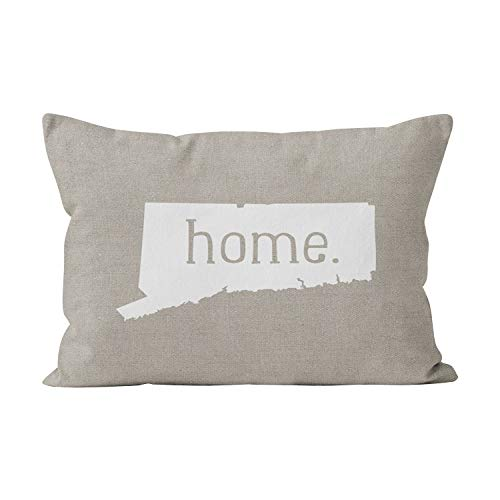 (Gygarden Beauty Connecticut Home State Hidden Zipper Home Decorative Rectangle Throw Pillow Cover Cushion Case Boudoir 12x20 Inch One Side Design Printed Pillowcase )