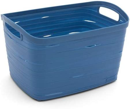 CURVER Caja Ribbon Azul Cesta 38,5 x 27,5 x 24 cm Caja Ropa Cesta Cesta Decorativa Box Pinza para Piezas pequeñas: Amazon.es: Hogar