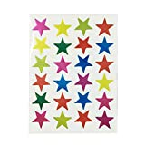 Milisten 100pcs Star Stickers Reward Stickers Self-Adhesive Stars Labels Stickers for Kids Teachers Students Toddlers Random Color