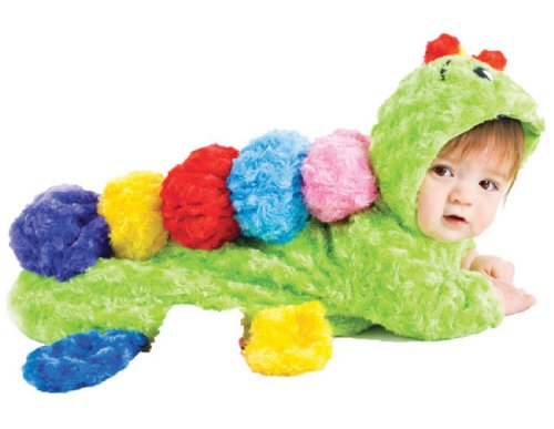 Underwraps Baby's Colorful Caterpillar Bunting, Lime/Multi, Infant (Caterpillar Costume)