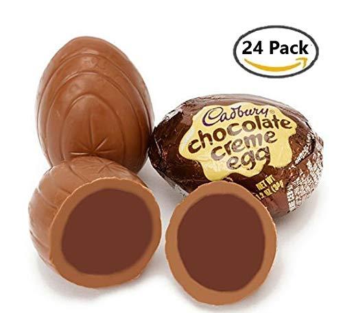 Cadbury Easter Chocolate Creme Egg, 1.2-Ounce Eggs (24 Count)
