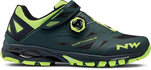 Northwave Spider Plus 2 MTB Trekking Fahrrad Schuhe grau/schwarz/orange 2018 green gable-yellow flou